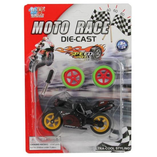 Speel motorfiets zwart