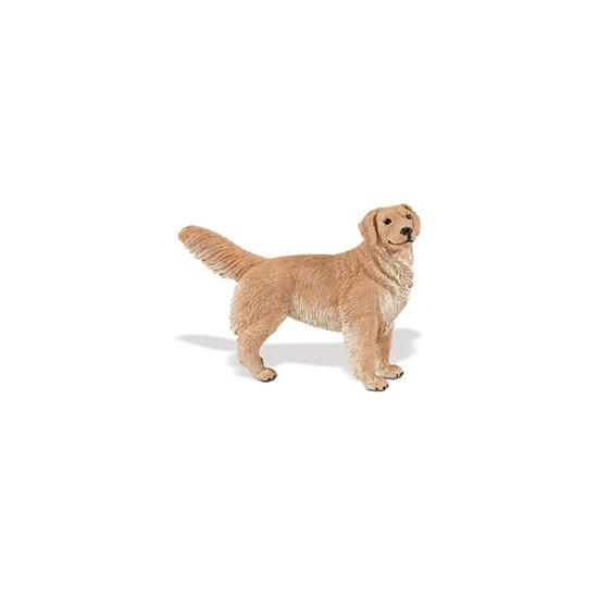 Speeldier Golden Retriever van plastic 11 cm