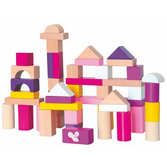 Speelgoed blokken in doos 50 stuks