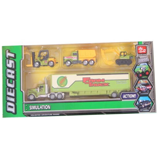 Speelgoed boerderij trucks set