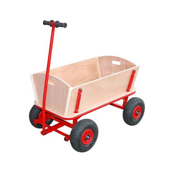 Speelgoed bolderwagen van hout