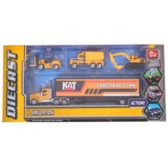 Speelgoed bouw trucks set