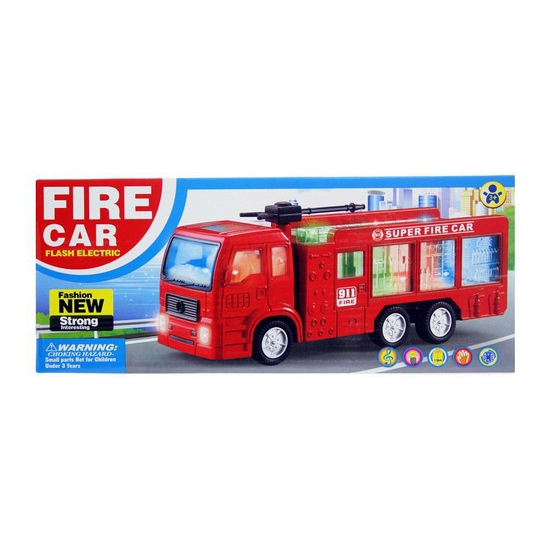 Speelgoed brandweerauto met licht en geluid