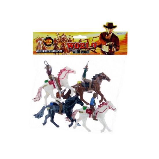 Speelgoed cowboys op paard plastic