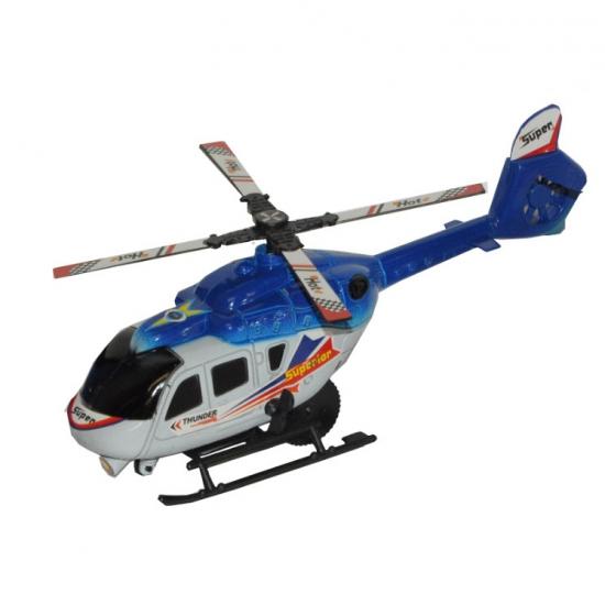 Speelgoed helikopter blauw 21 cm
