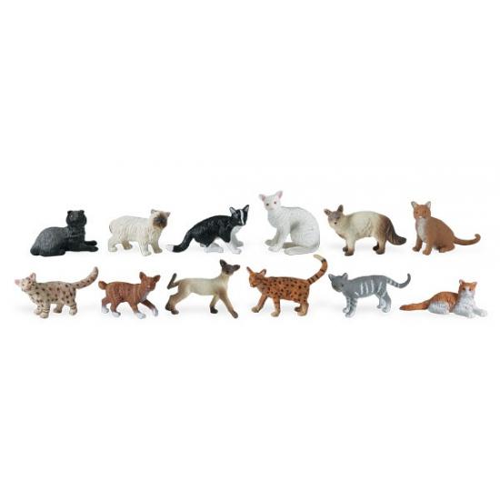 Speelgoed katten 12 stuks