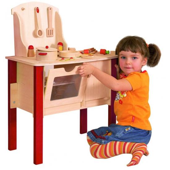Speelgoed keuken van hout met accessoires