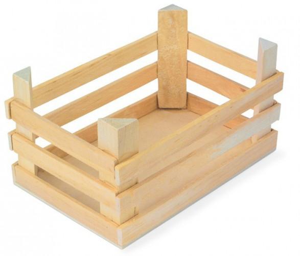 Speelgoed kist van hout 18 x 12 x 10 cm