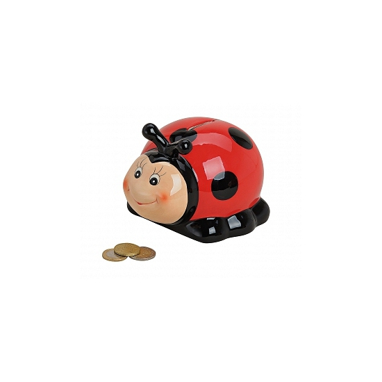 Speelgoed Lieveheersbeestje spaarpot