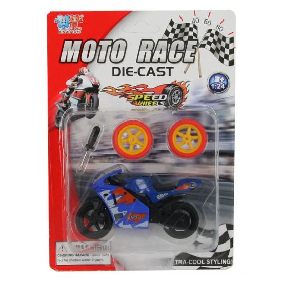 Speelgoed motor blauw
