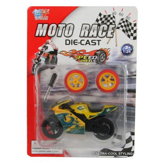 Speelgoed motor geel
