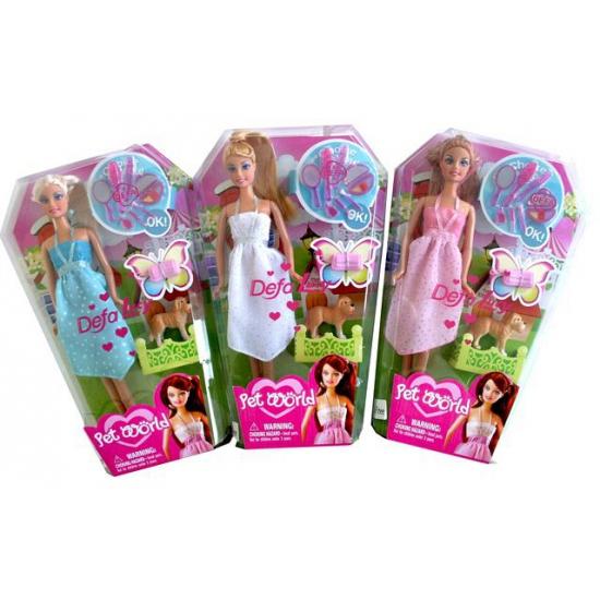 Speelgoed pop Lucy met blauwe jurk