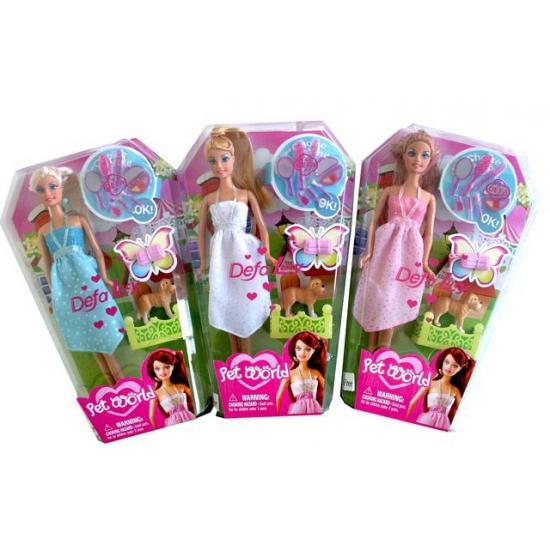 Speelgoed pop Lucy met witte jurk