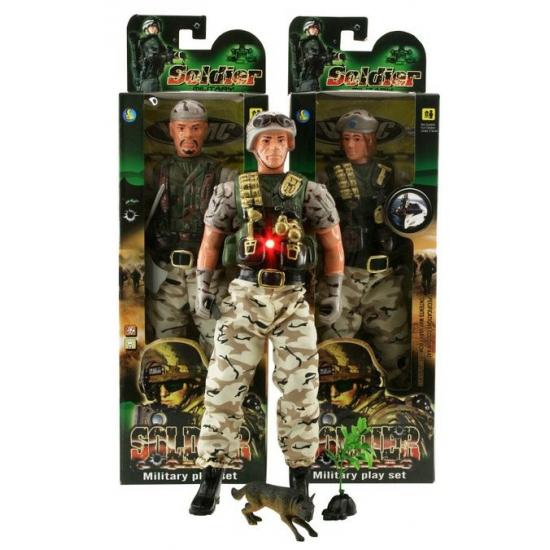 Speelgoed poppen militair met accessoires