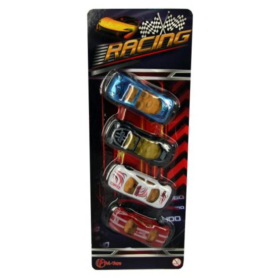 Speelgoed race autootjes 4 stuks