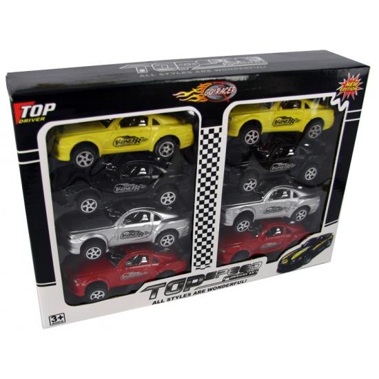 Speelgoed raceautos 8 stuks