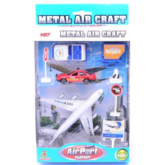Speelgoed setje vliegveld met rode auto