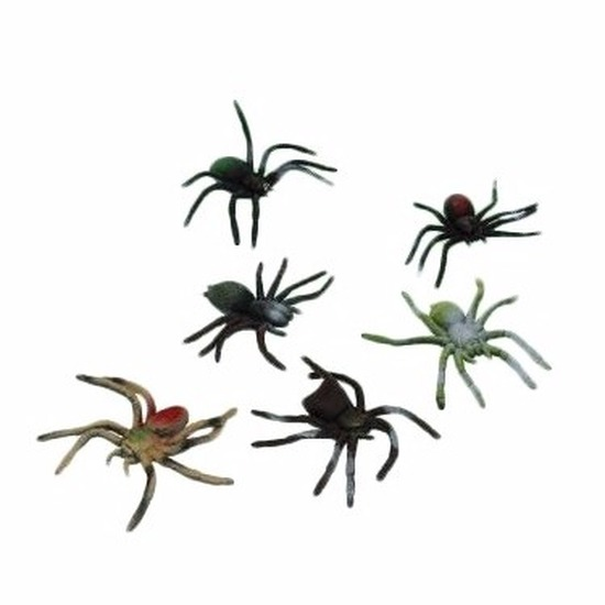 Speelgoed spinnen plastic 10 cm