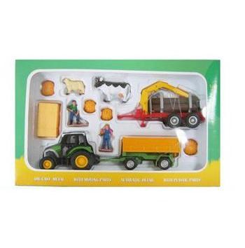 Speelgoed tractor set van metaal