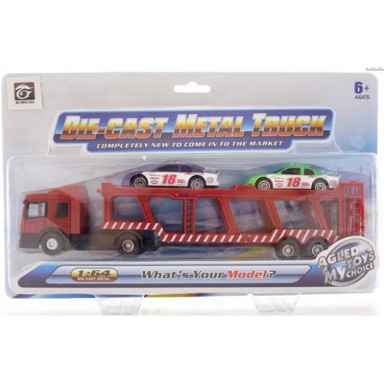Speelgoed transport wagen met autos