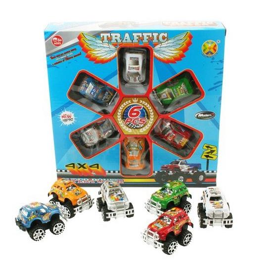 Speelgoed trucks 6 stuks