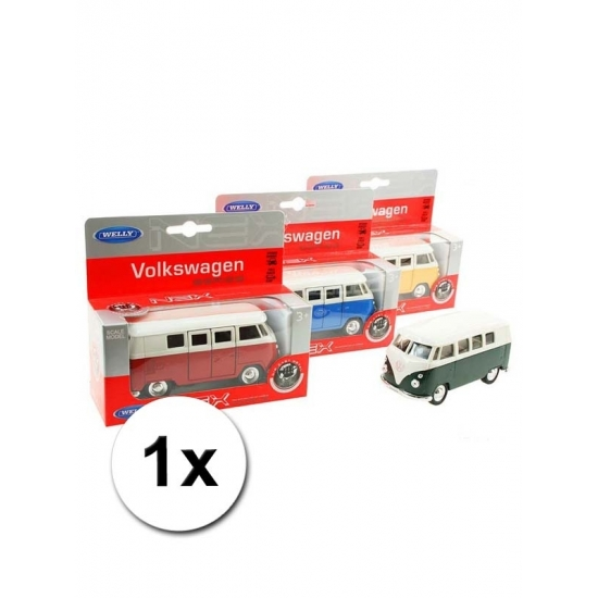 Speelgoed Volkswagen T1 groene bus 15 cm