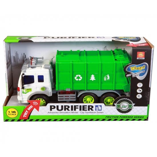 Speelgoed vuilniswagen schaalmodel