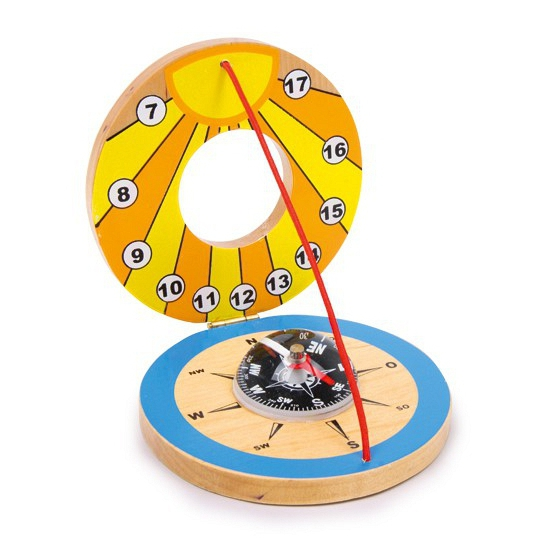 Speelgoed zonnewijzer met kompas