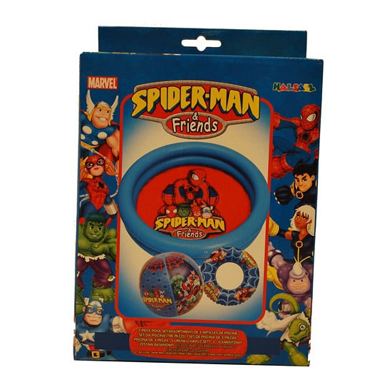 Spiderman complete zwembad set