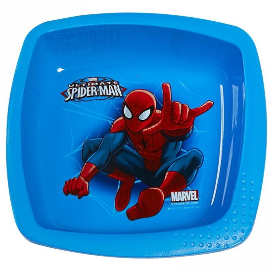 Spiderman schaaltje blauw 16 cm