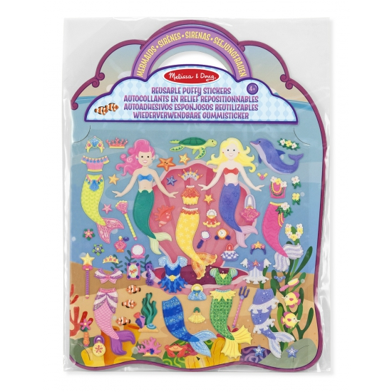 Stickerboek voor meiden zeemeermin thema
