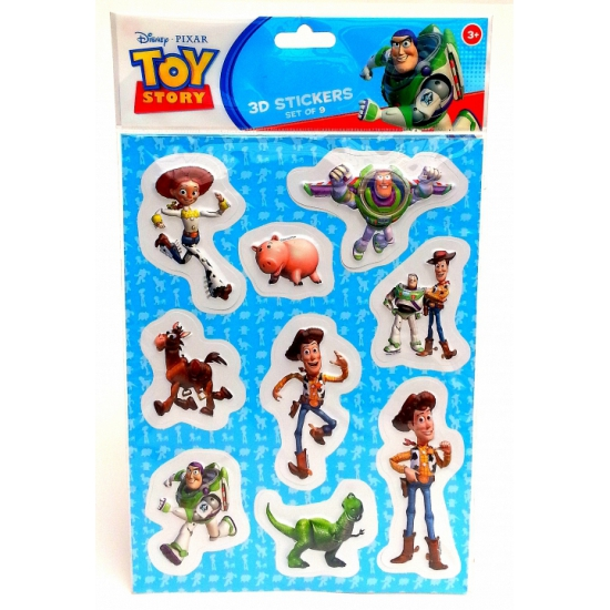 Toy Story 3D stickers op A4