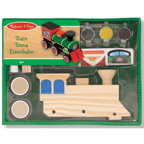 Trein bouwpakket van hout