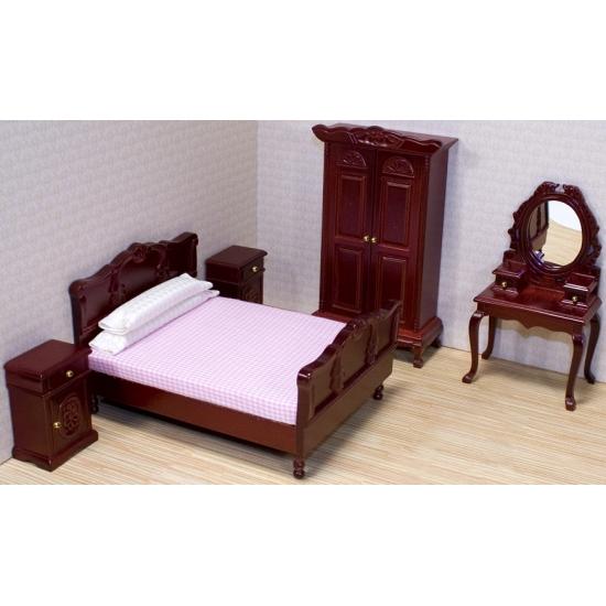 Victoriaans poppenhuis slaapkamer meubels