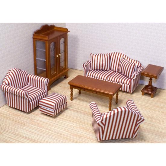 Victoriaans poppenhuis zitkamer meubels