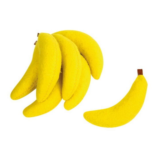 Vilten bananen speelgoed set
