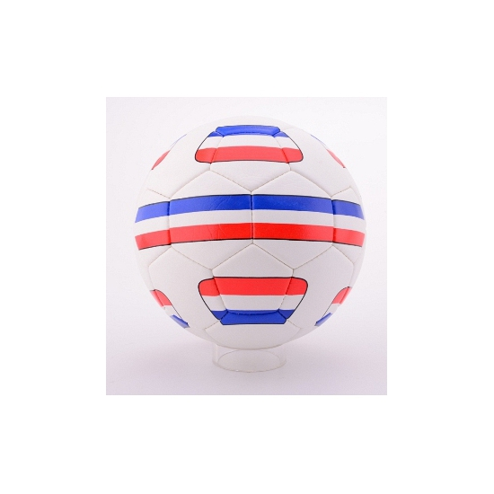 Voetbal rood wit blauw
