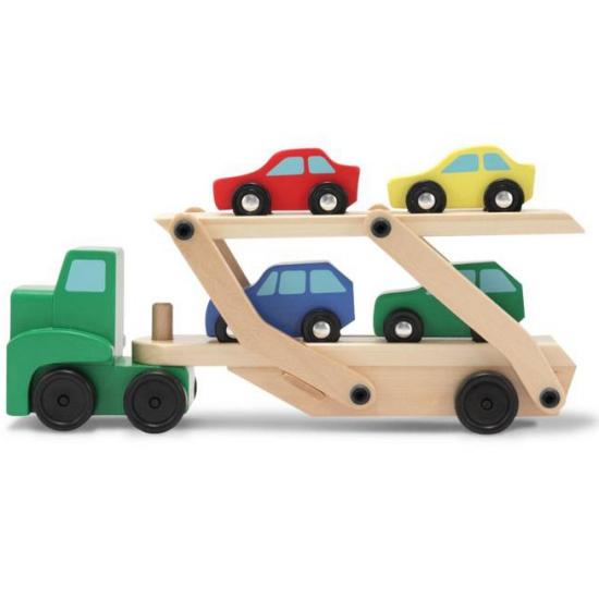 Vrachtwagen met auto oplegger