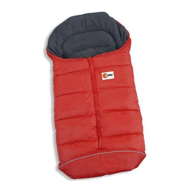 Warme sleezak voor babies rood