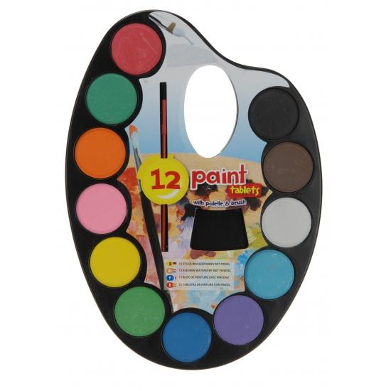 Waterverf palet met 12 kleuren
