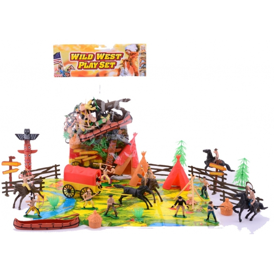 Wild West speelset van plastic