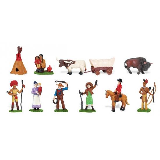 Wild westen speelgoed poppetjes