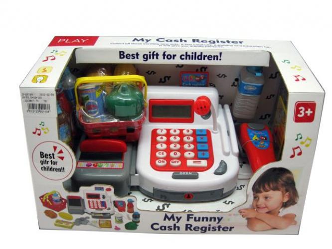 Winkeltje spelen kassa voor kinderen