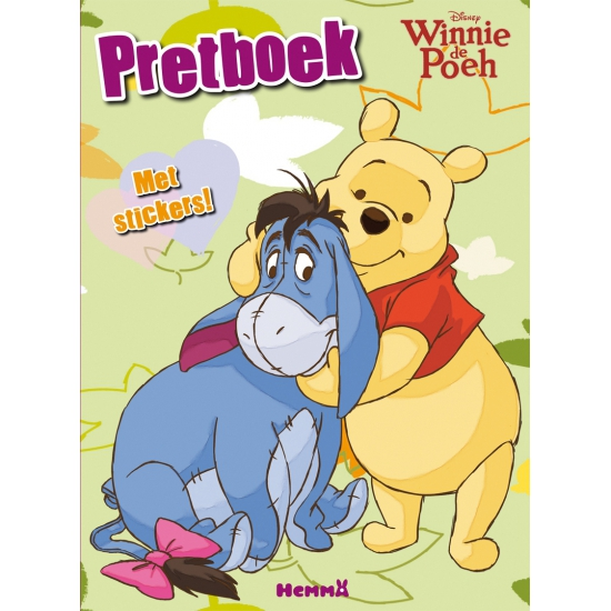 Winnie de Poeh pretboek met stickers