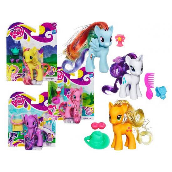 Witte Rarity speelgoed pony 10 cm