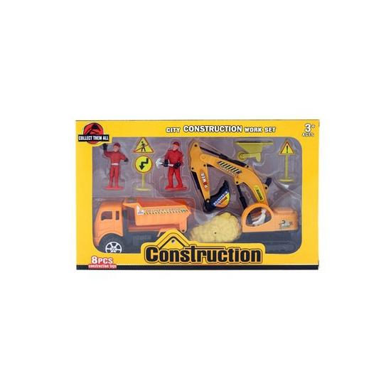 Zand vrachtwagen speelgoed setje 8 delig