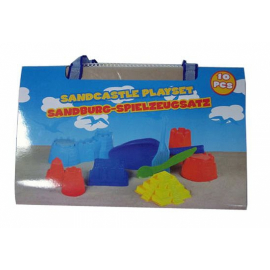 Zandkastelen speelgoed 10 delig