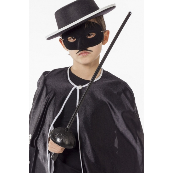 Zwart degen zwaard met masker