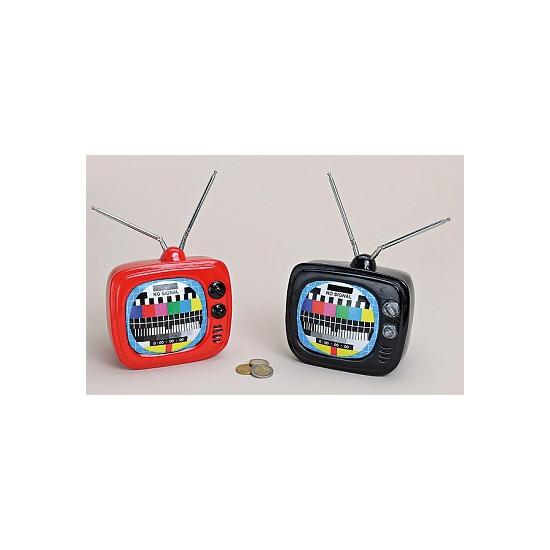 Zwart televisie spaarpotje