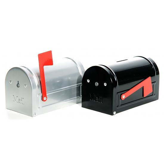 Zwarte brievenbus spaarpot 15 cm